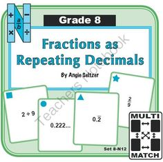 math worksheet : repeating decimal assessment and formative assessment on pinterest : Converting Repeating Decimals To Fractions Worksheets