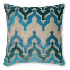 The Bella Pillow by Piper Collection is a mix of design ideas and a passion that create a unique and vibrant home decor collection.   Color: Waterfall