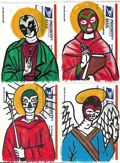 Luchador Saints... adapt for a project