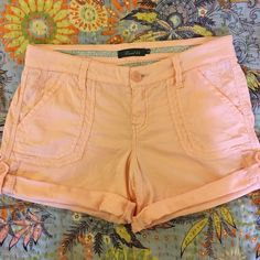 Anthropologie | Cuffed shorts Super soft material combined with the perfect pale pink and effortless cuffs makes these shorts the perfect addition to your spring/summer wardrobe! Brand is Level 99 sold at Anthropologie. In fantastic condition, only worn one time. Anthropologie Shorts