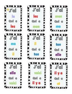 J'ai Qui a? Mot Sight Words French I have,. by La Classe de Mme Hawtree 1st Grade Math, Kindergarten Math, Teaching Math, Grade 1, Teaching Resources, Math Addition, Addition And Subtraction, Addition Facts, Math Games