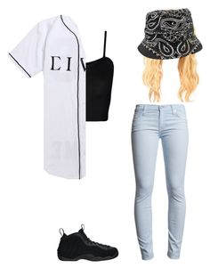 """Untitled #131"" by swaeleeleeswae ❤ liked on Polyvore featuring WearAll, Civil, 7 For All Mankind and NIKE"