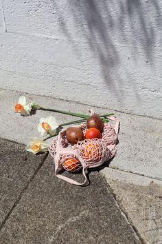 Natural Dye Net Tote Bag | Pomegranate
