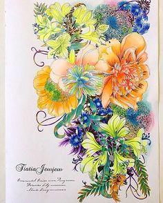 Instagram media tiatiajewjew - ✨世界一美しい花のぬり絵BOOK ✨レイラデュリー ✨2作目です…