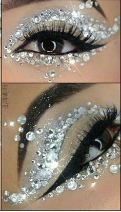 Eye Makeup Tips and Advice Eyes occupy the most prominent place among the five sensory organs of our body. Large and beautiful eyes enhance one's beauty manifold. Healthy eyes are directly related to general health. Use eye-make up v Eye Makeup Steps, Eye Makeup Art, Fairy Makeup, Eye Art, Love Makeup, Beauty Makeup, Gem Makeup, Crazy Eye Makeup, Exotic Makeup