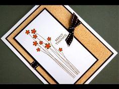 An embossingfolder and waxpaper ***  Een embossingfolder en waxpapier #embossing #tutorial