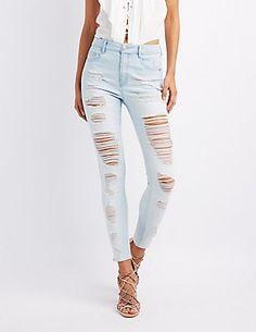 Refuge Hi Waisy Destroyed skinny jeans