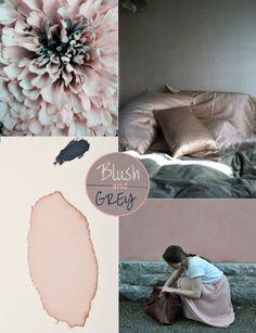 Blush & Grey, See more inspirations at http://www.brabbu.com/en/inspiration-and-ideas/ #MoodBoardIdeas #MoodBoardDesign #MoodBoardFashion