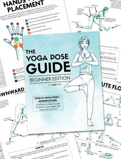 This beginner yoga pose guide is perfect for anyone starting their yoga journey or anyone who wants to strengthen their yoga foundation. Thousands of people have used these and love how they simplify yoga. Reading For Beginners, Yoga Routine For Beginners, Learn Yoga, How To Do Yoga, Yoga Fitness, Standing Yoga Poses, Yoga Props, Yoga At Home, Yoga Flow