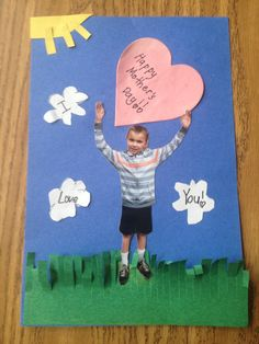 Mother's Day card. DIY cards made by second graders