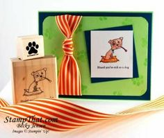 get well dog stamp   Stampin' Up! Wellness Wishes stamp set