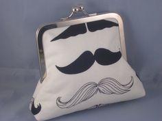 Mustache change purse $15