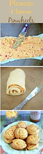 Pimento cheese pinwheels by Things That Inspire, via Flickr