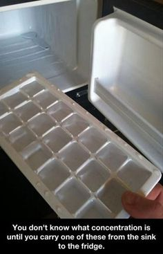 Yes. It's been awhile since I've had to do this, ever since my grandparents got an ice-making fridge.