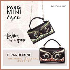 Originale ed inconsueta la Mini Bag realizzata dal marchio Le Pandorine. Due occhietti curiosi, accompagnati da paillettes colorate, vi seguiranno in tutti momenti della vostra vita.  Più info su :http://carpelshop.com/prodotto/le-pandorine-mini-eyes-pose/