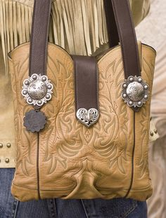 Cowboy Boot Purse ~ 898Each West Texas Tote is a 'One of a Kind' created 'One at a Time' with no heavy sub-structures or scrap materials used. Designed and produced entirely by me and my family here in the good old USA with unsurpassed quality! You will be most proud to carry her