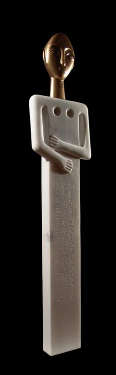 Erdinç Bakla, Goddess Shaushka, Marble, 160x40x10 cm, 2005