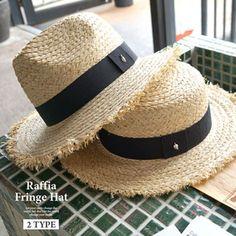 DONOBANSELECTドノバンセレクトラフィアフリンジハットカンカン帽子|帽子麦藁帽子ストローハット麻リボンワンポイントレディースUVカット日よけ日焼け対策紫外線対策ホワイトブラック春夏セーラーキャップ[T](L)