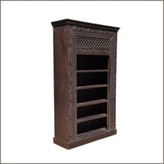 New Delhi Primrose #HandCarved Mango Wood #Bookcase #interiors #contemporaryfurniture #homedecor #furniture #homeinspiration   http://www.sierralivingconcepts.com/