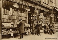 Charing Cross Road, London - bookshop in the 1920's!