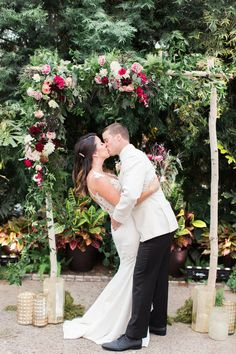 Romantic wedding at a Horticulture Center in Philadelphia: Mariel + Steve - 100 Layer Cake
