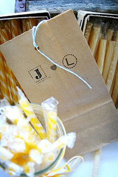 that's easy enough! Candy Favors, Candy Bags, Wedding Fun, Wedding Ideas, Wedding Planner, Baby Shower, Easy, Crafts, Wedding Planer