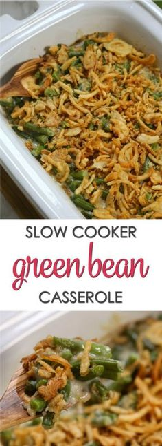 This Crockpot Green Bean Casserole is a time saving twist on a classic Thanksgiving recipe. It's easy to put together and doesn't take up precious oven space on the big day. It's definitely one of the best slow cooker recipes of all time. via @itsakeeperblog