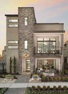 Facade house - 20 Best of Minimalist House Designs [Simple, Unique, and Modern] – Facade house Modern Exterior House Designs, Dream House Exterior, Modern Architecture House, Modern House Plans, Modern House Design, Exterior Design, Exterior Houses, Modern House Facades, 2 Storey House Design
