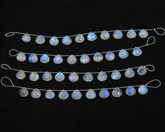 10 Pcs, Rainbow Moonstone Heart Shape Beads Multi flashy, Natural Rainbow Moonstone Faceted Briolettes Gemstone Beads Jewelry Making 12 mm