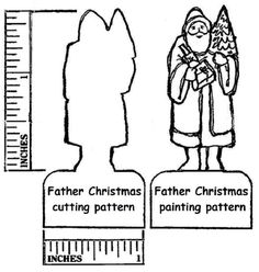 """View topic - Making a """"Father Christmas"""" flattie. Father Christmas, Christmas Paper, Christmas Crafts, Fun Crafts, Paper Crafts, Putz Houses, Glitter Houses, Christmas Villages, Tiny Treasures"""