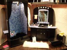 original creation by chanikava scale barbie furniture bathroom tub shower vanity sink toilet doll house diorama dollhouse dreamz bathroom dollhouse