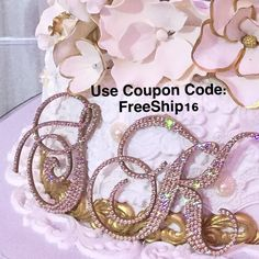 A few hours left! Use promo code at check out or call us direct to place your order:  888.736.7775 Monogram Cake Toppers, Wedding Accessories, Coupon Codes, Sparkle, Coding, Bridal, Check, Handmade, Jewelry
