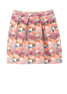 Matthew Williamson skirt. Love the mix of colours, metallics and pattern.
