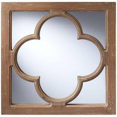 Home Decorators Collection 18 in. x 18 in. Square Weathered Wood Antique Window Pane Wall Mirror