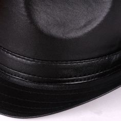 Mens Women Vintage Leather Bowler Jazz Cap Black Casual Short Brim Gentleman Hats at Banggood