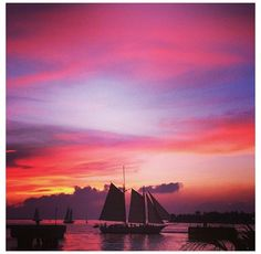 BOLENDER_B Loved the sunsets in Key West! Mini season! Deep sea fishing! Diving in the reefs! and leaving all your worries on the main land! Photo taken on Mallory Square Dock of a passing sailboat in Key West! #capturekw #keywest