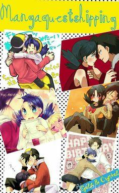 Pokemon Manga, Pokemon Fan Art, Pokemon Couples, Anime Couples, Pokemon Adventures Manga, Gold Pokemon, Pokemon Ships, Pokemon Special, Anime One