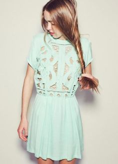 Pair this pastel blue dress with a black or midnight purple belt