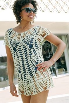Capri Cover - Free pattern -- Crochet Me also pretty in a metallic for a New Years over top