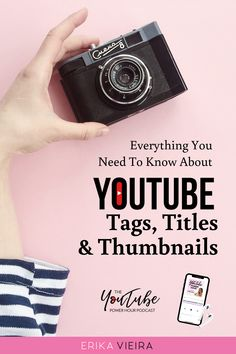 Everything you need to know about YouTube Tags, Titles, Thumbnails. The YouTube Power Hour Podcast with Erika Vieira. Episode 72 #ErikaVieira #YouTubePowerHousePodcast  #YouTube Marketing Software, Marketing Tools, Content Marketing, Media Marketing, Marketing Ideas, Youtube Tags, You Youtube, Youtube Kanal, Social Media Tips