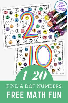 Fun math activities and free printable for preschool, pre k and kindergarten! Find and Dot Matching Numbers activity for learning number identification and writing at home and in the classroom. Learning Numbers Preschool, Kindergarten Math Activities, Pre K Activities, Free Preschool, Preschool Printables, Preschool Lessons, Preschool Worksheets, Number Activities For Preschoolers, Preschool Curriculum Free