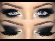 Black Smokey Eye Make Up Tutorial ♡ - YouTube