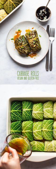 #cabbagerolls #cabbageroll #cabbage #vegan #glutenfree #easy #dinner #entree #main #healthy #savoy #meatless #dairyfree #asian