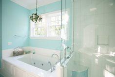 Sherwin Williams - Spa - tiffany blue bathroom, tiffany blue walls