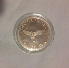 1983 Penndel Area Charter Member Bronze Medal w AT&T Logo in Case, Vintage Golf by MyEclecticWares on Etsy