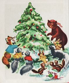 Animal's Christmas Tree...early South Park Christmas critters ;)