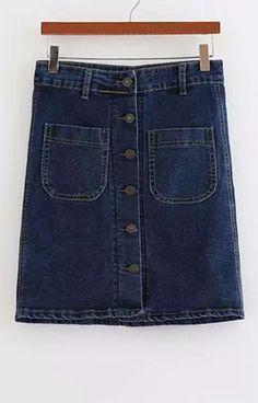 Pockets Denim Skirt – Trendy Road