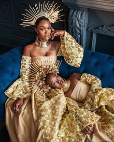 Family Values. Creative Muse: Shot by: Makeup: Hair: Dress: Crowns Chokers: Styled by: Black Girl Art, Black Girl Magic, Black Girls, Black Art, African Beauty, African Fashion, Black Royalty, African Royalty, Photoshoot Themes