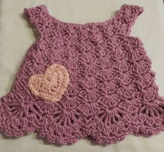 Crochet Baby Dress  Purple  3 Months by ShelleysCrochetOle on Etsy, $24.00