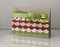 Merry Christmas Scalloped DP Stampin Up Card by AndreaWalford